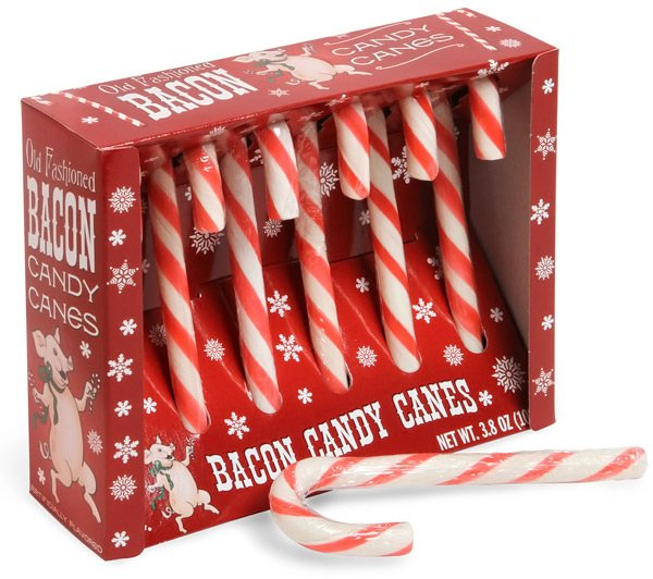 bacon candy cane