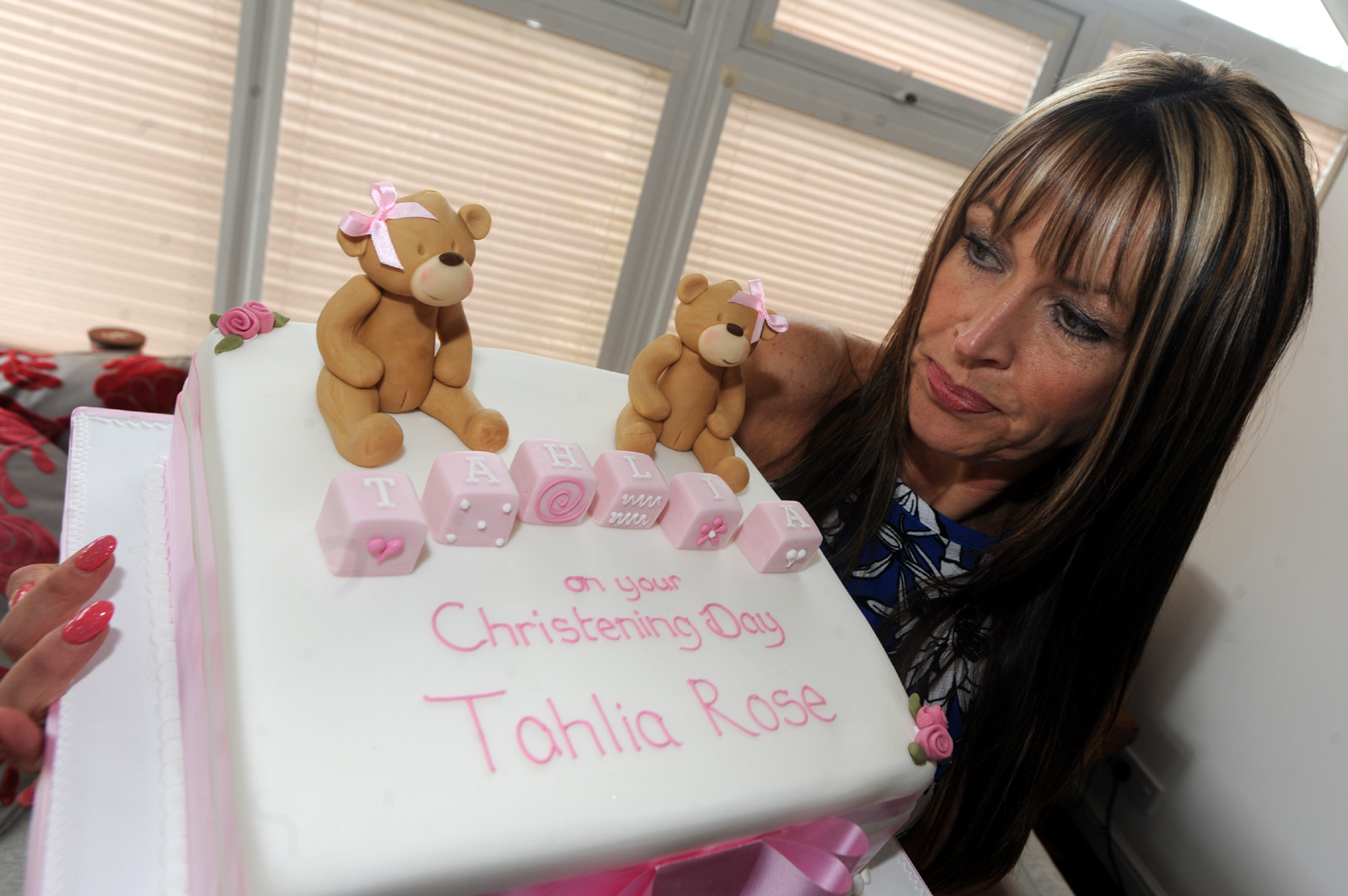 Sharon Green ordered a Christening Cake from Occasion Cakes in Wigan (their headquarters are in Bolton) the teddy on the cake appears to have a vagina. Sharon has asked for a full refund but the company has refused.
