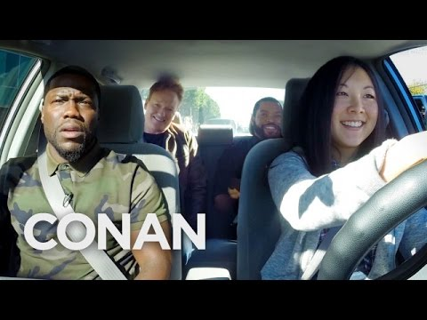 Watch Kevin Hart, Ice Cube, and Conan Teach An Intern How to Drive In L.A.