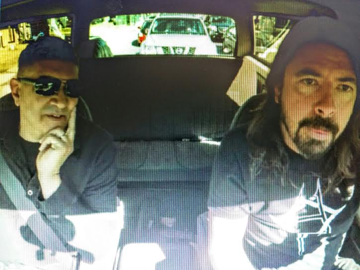Dave Grohl & Pat Smear Drive Around L.A. And Visit Bowie Landmarks