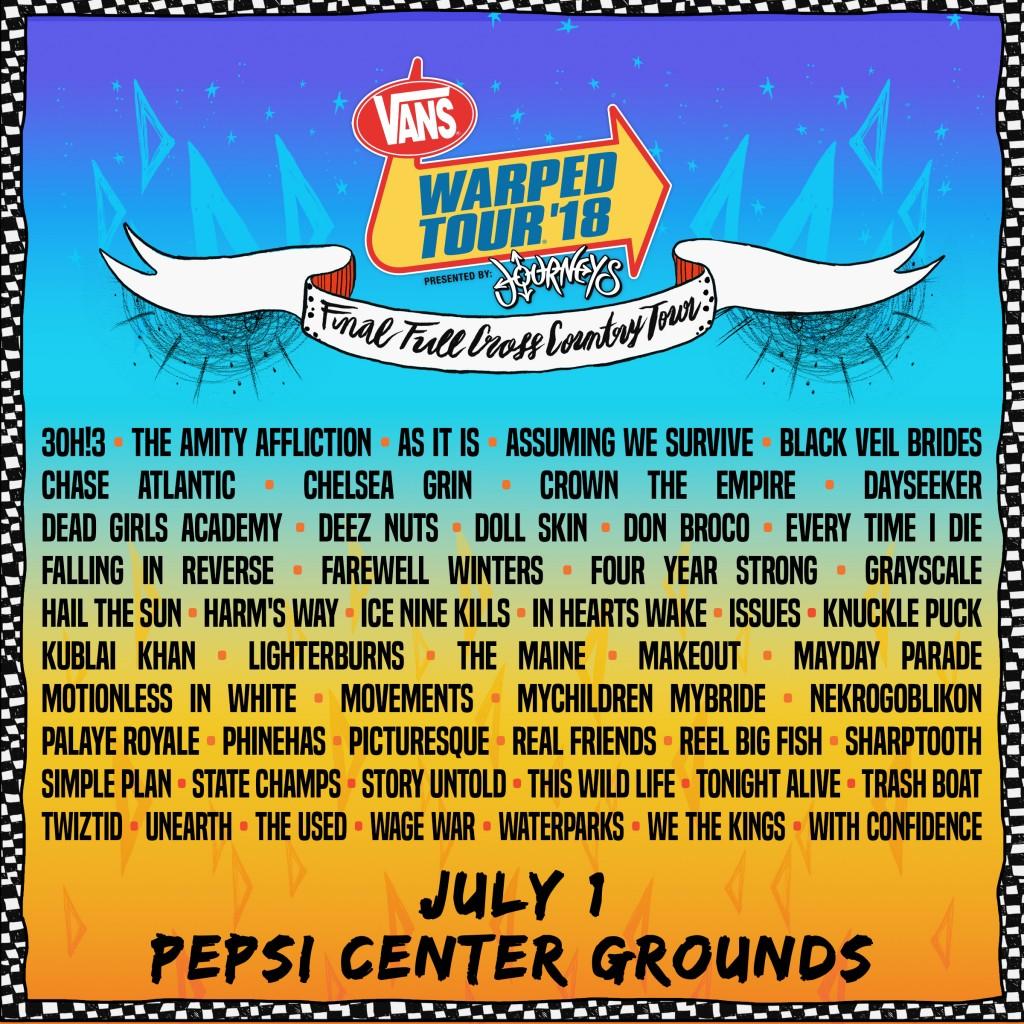 Vans Warped Tour Denver  Tickets