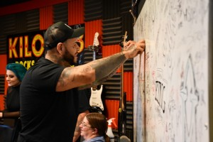 Tommy Vext Signing The Board