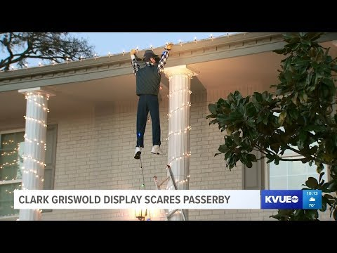 KILO's FREAK NEWS: A Family's Christmas Decorations Include Clark Griswold Hanging Onto the Gutter . . . and Someone Calls 911