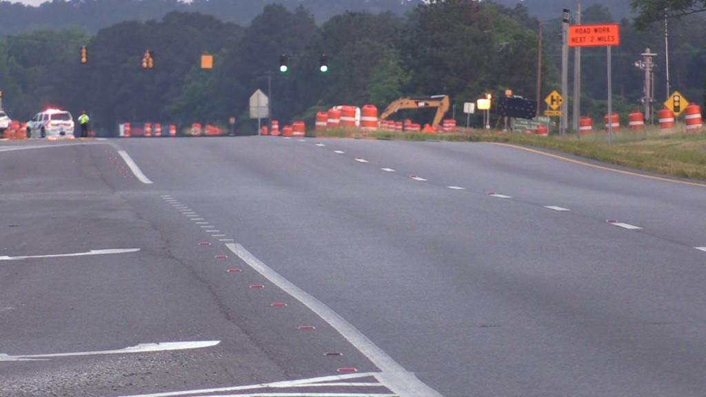 Highway 247 gas line break