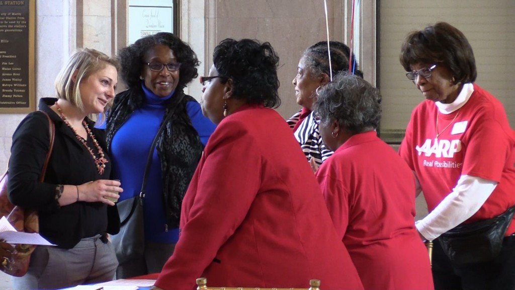The AARP certified Macon-Bibb as an age-friendly community Tuesday at the Terminal Station.