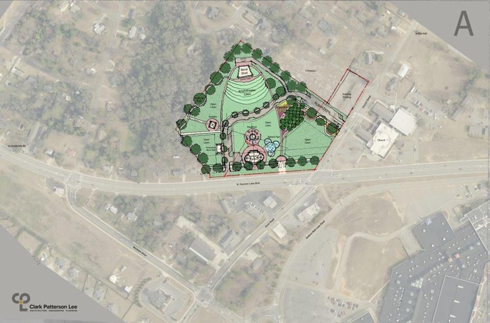 Centerville Center Park designs for downtown park.