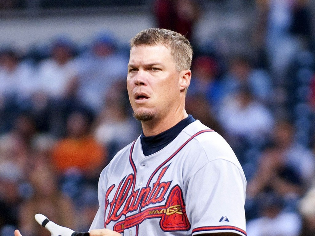 Chipper Jones was selected in his first year of eligibility.