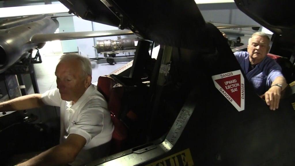 "Maj. Gen. Eldon ""Al"" Joersz and LNt. Col. George ""GT"" Morgan set the world speed record."