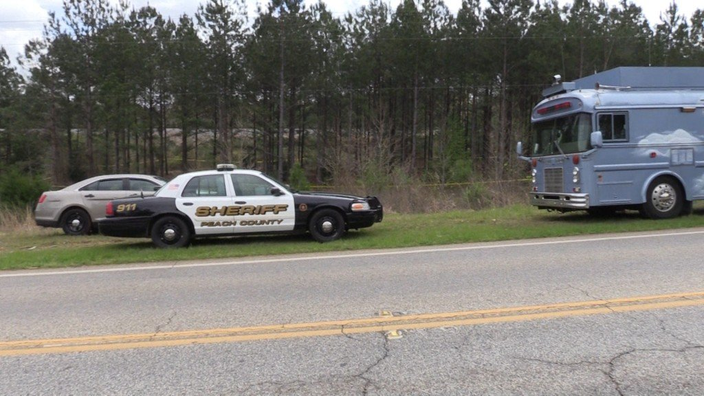 Investigators in Peach County looking for clues.