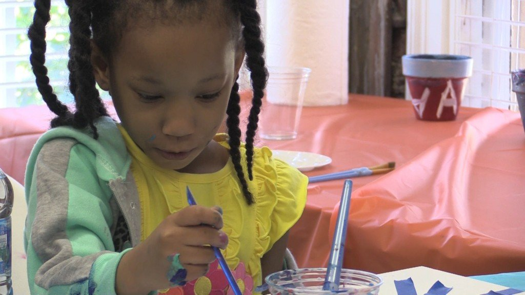 Jay's HOPE hosted an art day for families to enjoy creating something fun.