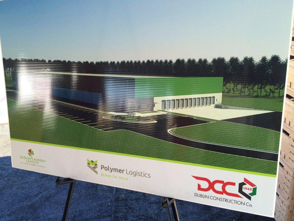Mark up of what the Polymer Logistics building will look like.