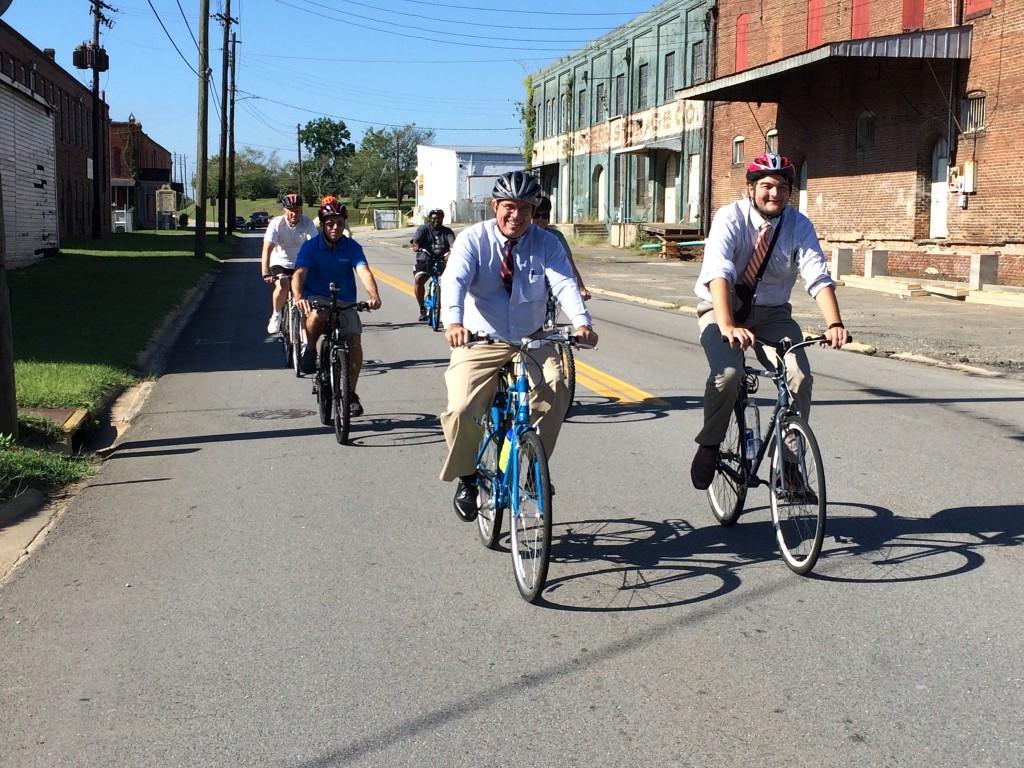 Robert Reichert riding a bike