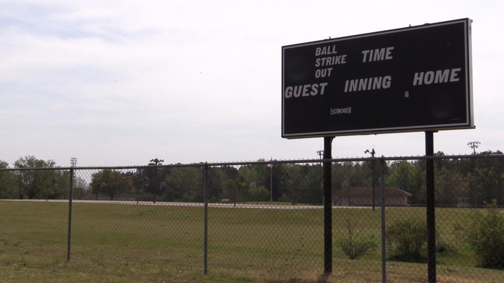 South Peach Park in Fort Valley added a scoreboard that should be an improvement for the Spring season.