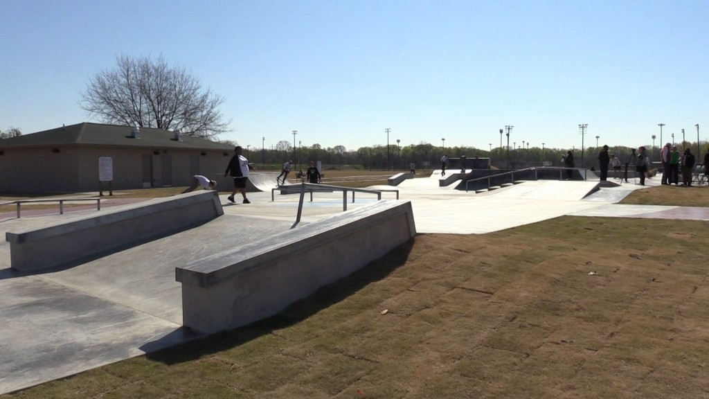 The Macon-Bibb Commissioners helped create a skate park at Central City Park in Macon.