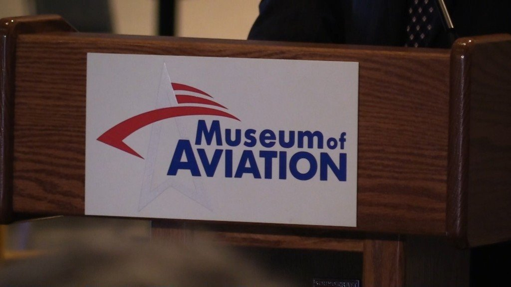 The Museum of Aviation in Warner Robins hosted Middle Georgia leaders to kick off the solar power generation plant project.