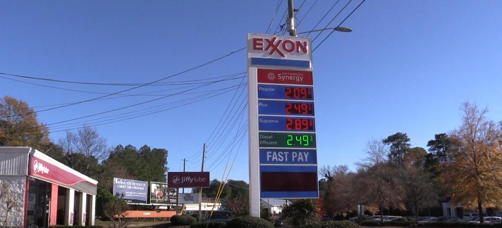 Photo of the Exxon on Forsyth.