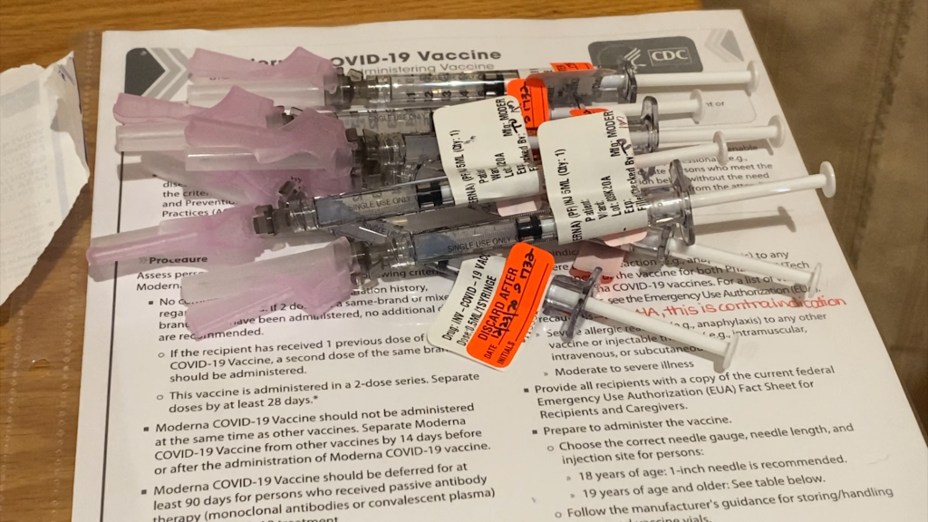 The vaccine was given to Residents and Health care workers