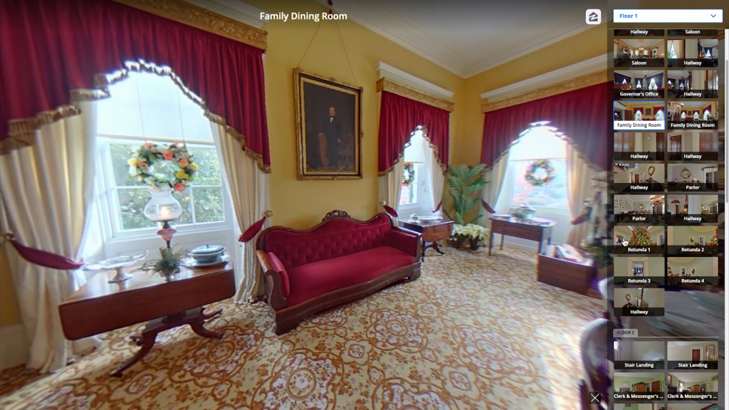 People can tour the Mansion through Zillow