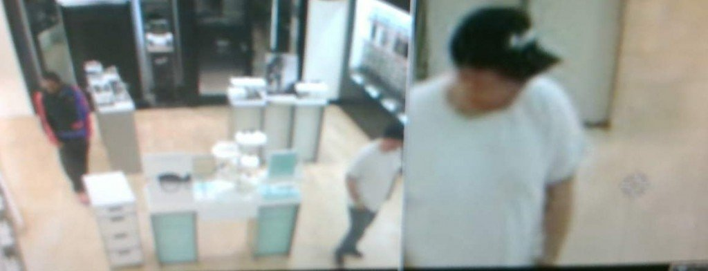 The Bibb County Sheriff's Office is looking for two men involved in a robbery at Sunglass Hut at the Shoppes at River Crossing in Macon.