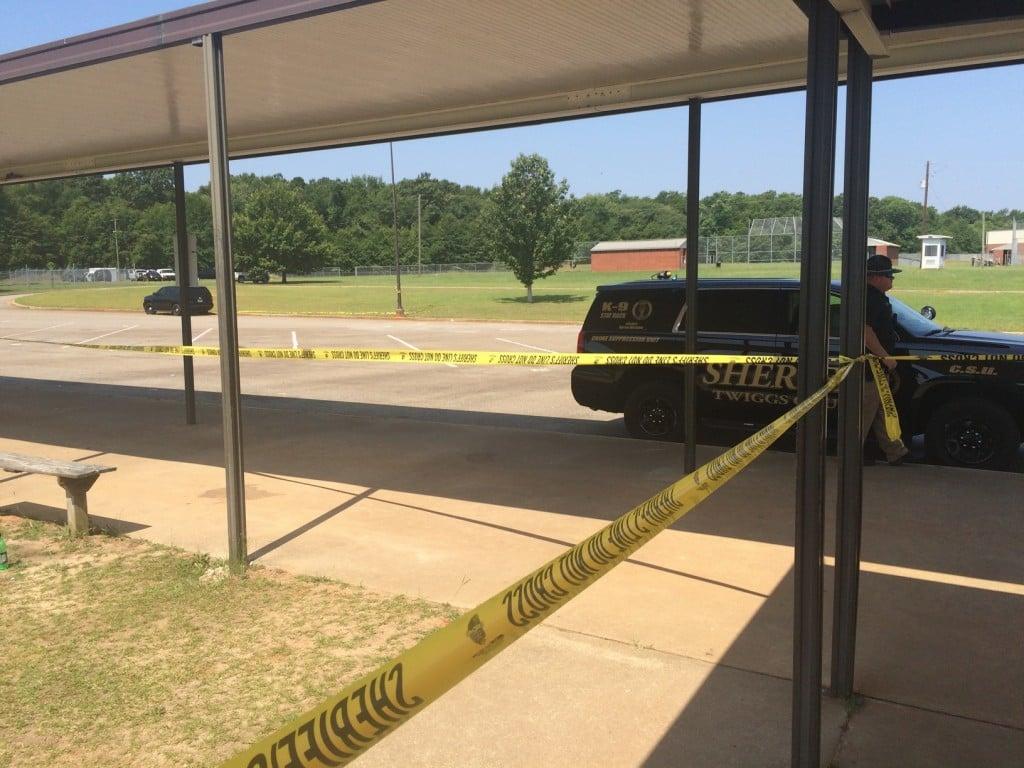 Twiggs County High School crime scene. GBI investigating possible murder-suicide.