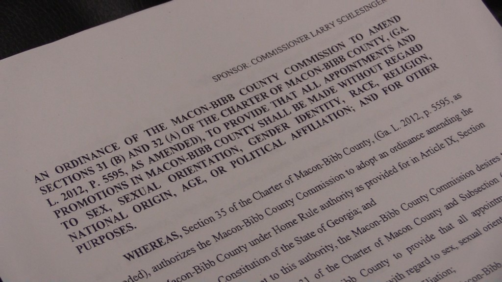 The resolution would change language in the county's ordinances to specifically talk about sexual orientation.