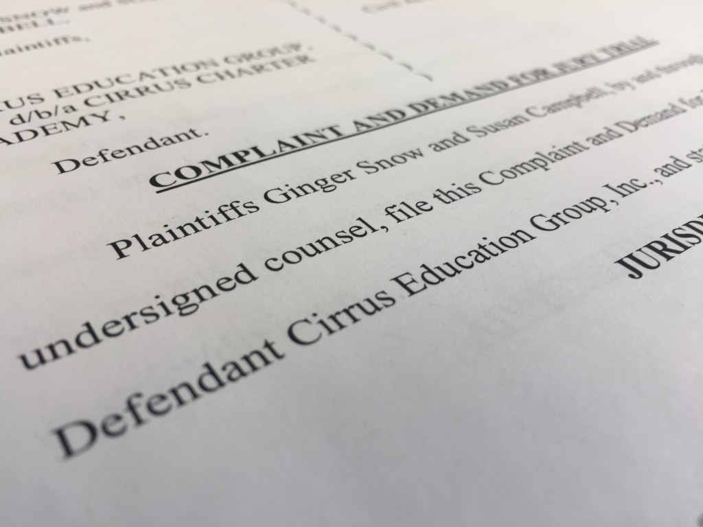 Teachers Ginger Snow and Susan Campbell filed a lawsuit with the U.S. District Court in Macon Wednesday.