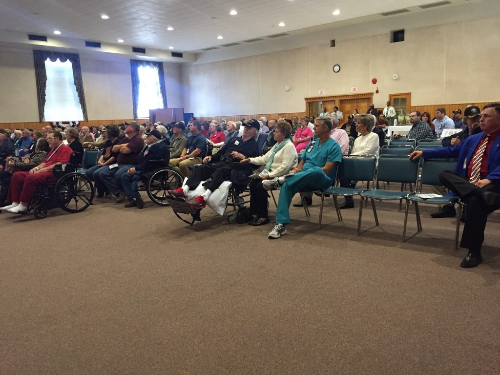 The community gathered to honor veterans during the Pearl Harbor remembrance ceremony.