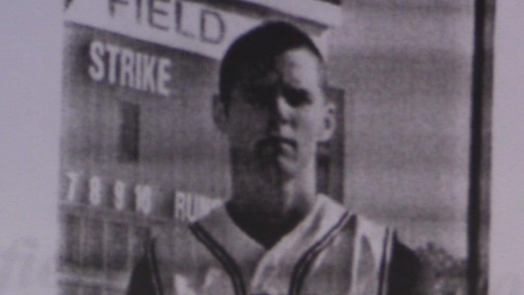 Josh Reddick is seen in a MGC baseball program from the mid-2000s.