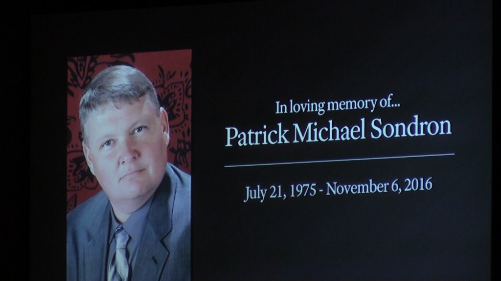 Sgt. Patrick Sondron was remembered Thursday at his funeral at Southside Baptist Church in Warner Robins.