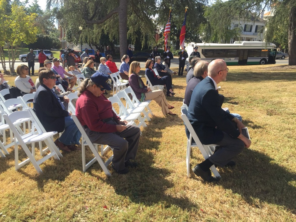 More than 50 people joined Middle Georgia State University and Macon-Bibb County Friday to honor veterans.
