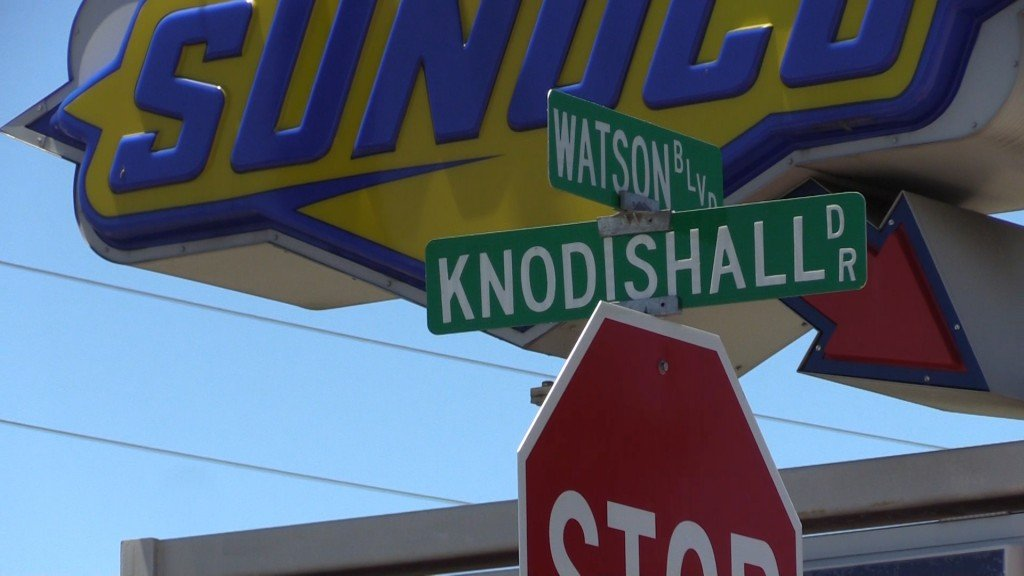 A man was hit and killed by a car early Monday morning near the corner of Watson Boulevard and Knodishall drive.