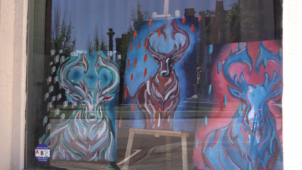 Poplar Street is being transformed into an art exhibit