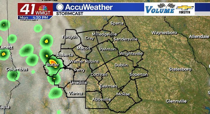 Rain Chances Monday August 30