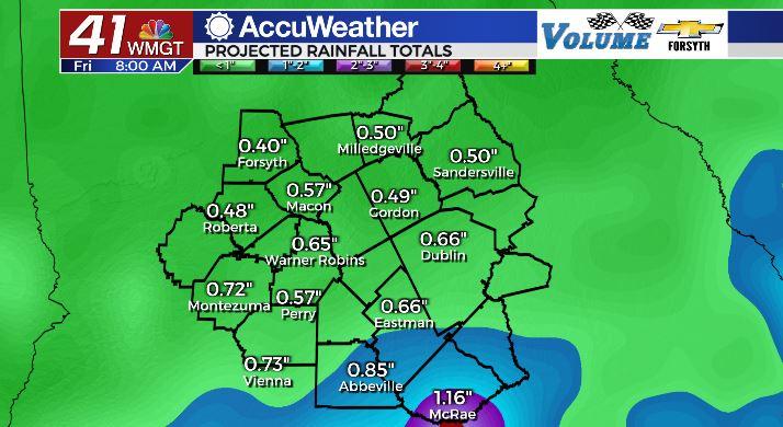 Forecast Rain Totals Thru Sept 9