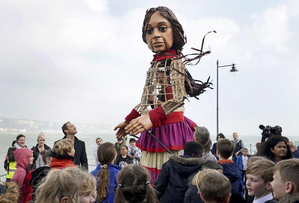 Migration Britain Puppet