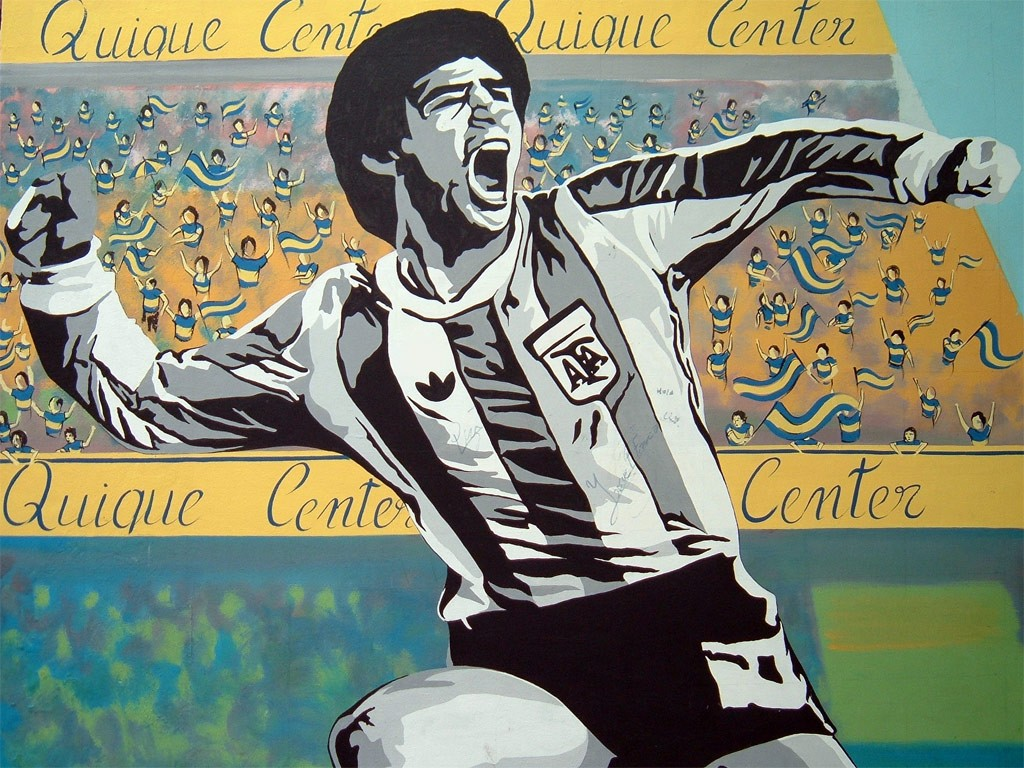 Graffiti Of Diego Armando Maradona. (17381121)