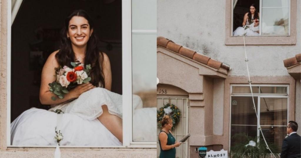 Viral Mujer Contrajo Covid Y Se Tuvo Que Casar Desde Una Ventana Al Estilo De Romeo Y Julieta