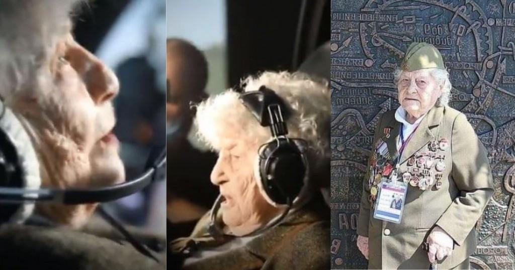 Veterana De Guerra Volvio A Pilotar Un Avion De Caza A Sus 99 Anos