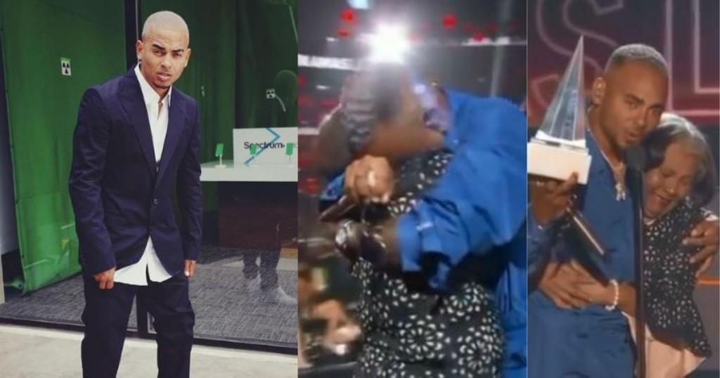 Ozuna Recibio El Premioevolucion Extraordinaria De Manos De Su Abuela