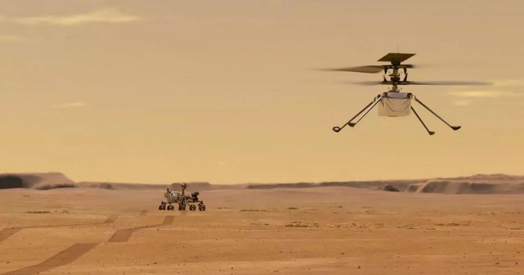 Historico La Nasa Logro Que Un Helicoptero Volara Sobre Marte