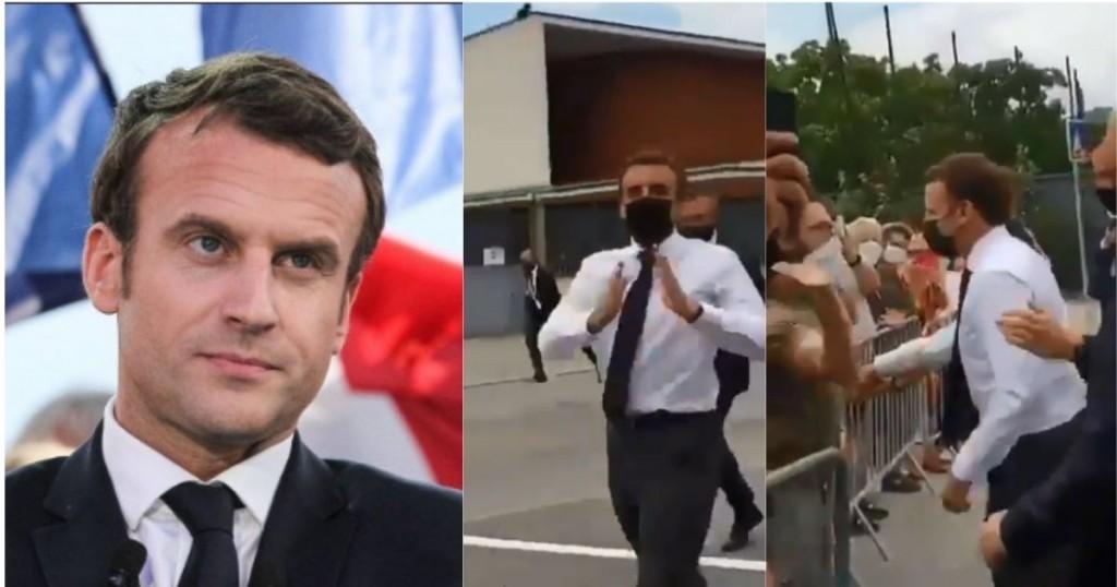 Emmanuel Macron Presidente De Francia Recibio Una Bofeteada En Acto Publico