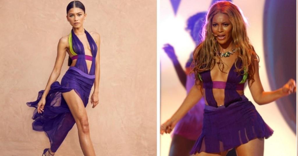 Zendaya Lucio Espectacular Vestido Versace En Honor A Beyonce En Los Bet Awards