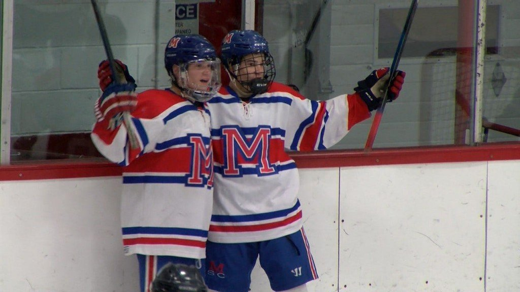 2020 Mount St Charles Christmas Tournament Mount St. Charles Boys Hockey Defeats Franklin In Overtime Thurs