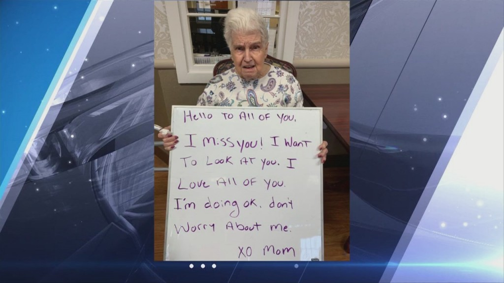 """""""i Miss You!"""" Nursing Home Residents Send Messages To Loves Ones"""
