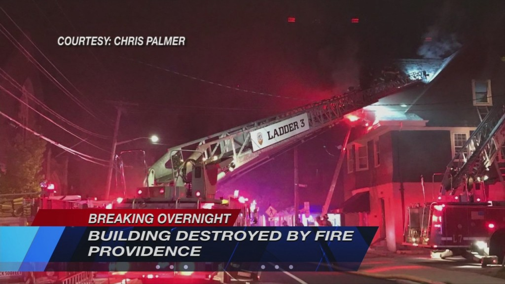 Building Destroyed By Fire In Providence