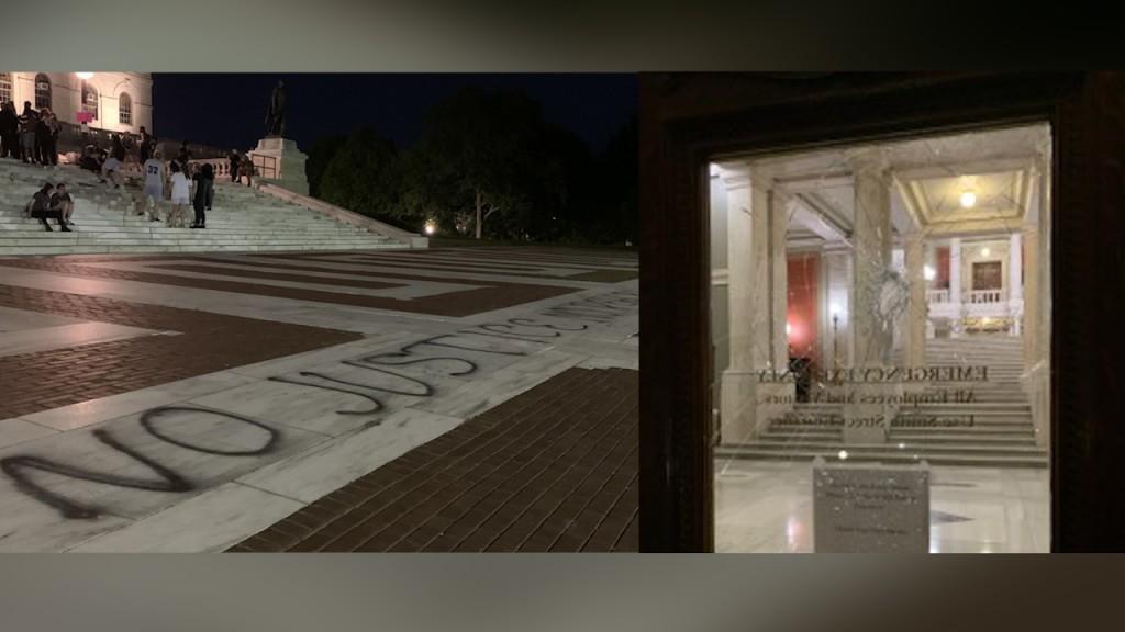 State House Vandalism