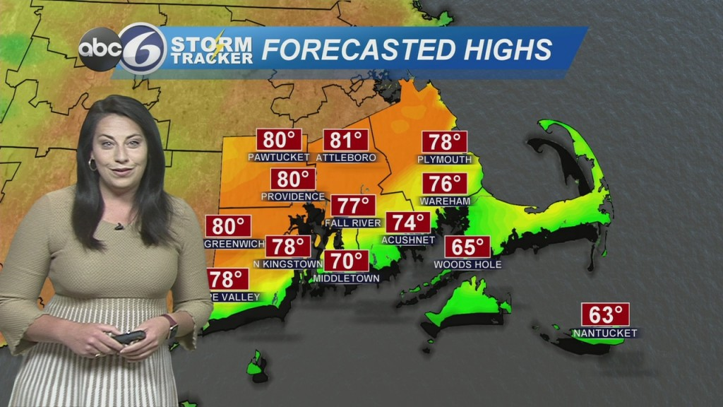 Warmer Today, Isolated Rain Still Possible