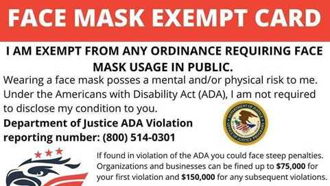 Face Mask Exempt Graphic 1593202910