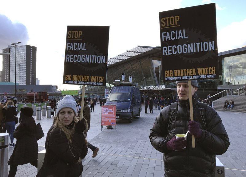 Facial Recognition Protest