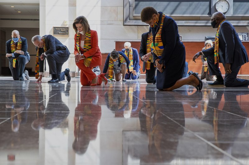 Pelosi Kneeling